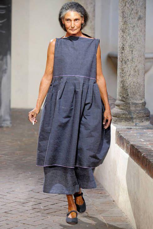 Benedetta Barzini,70 years old, italian model for Daniela Gregis.