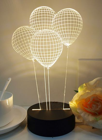 3D Illusion Balloon Table Lamp: Turn your coffee table into an amazing mini  3D show