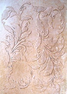 Raised Plaster Stencils