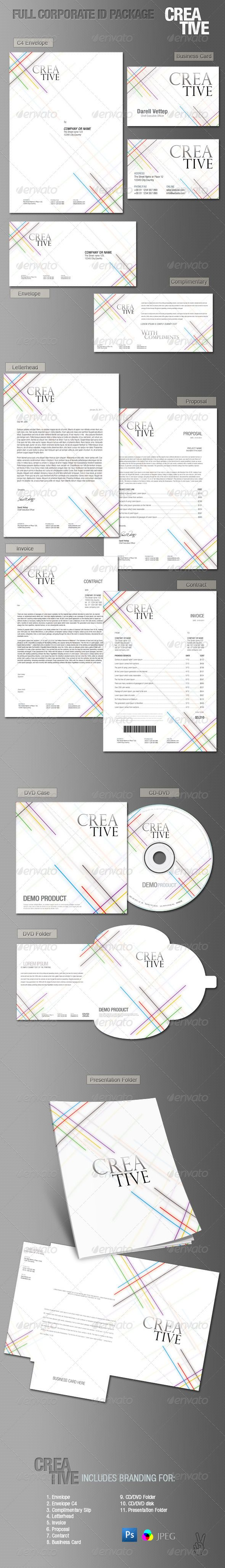Full Corporate ID Package - CREATIVE  #GraphicRiver