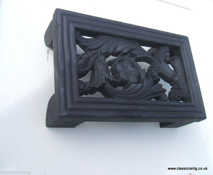Cast Iron effect air Brick  Air vent brick Cover 9 x 6  ( EXTERIOR USE floral )
