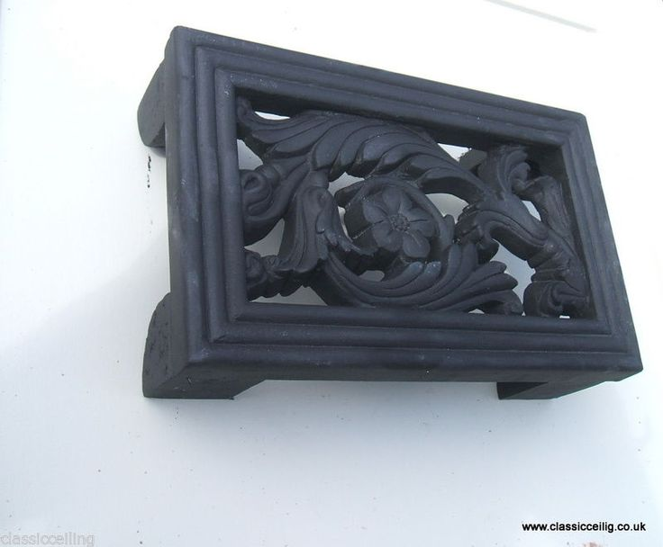 Cast Iron effect air Brick  Air vent brick Cover 9 x 6  ( EXTERIOR USE floral )
