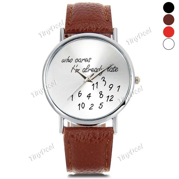"модельер схеме кожаные часы \""Women Watch кварцевые аналоговые часы лямки WWT-410924"