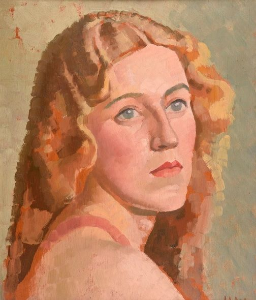 #Harold #Williamson: #Stella, 1930's  Framed  Signed with initials  #Oilonpanel #oilpainting #portrait #modernart #Britishart #llfa #art