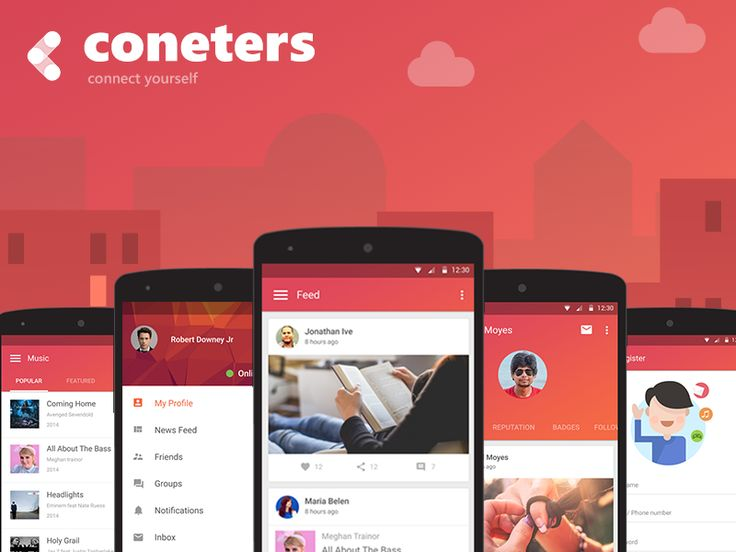 Coneters Android App Designs