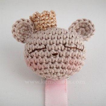 Amigurumi Bear Pacifier Holder