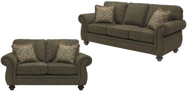 Broyhill Furniture - Cassandra Affinity Chenille Fabric 3 Piece Living Room Set - BRO-3688-7Q-8997-28-3SET