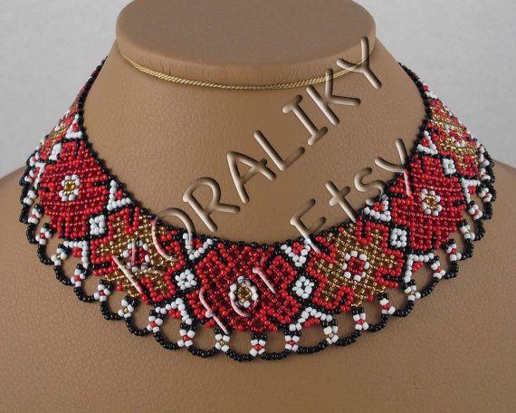 Traditionele Oekraïens kralen sieraden ketting armband door koraliky