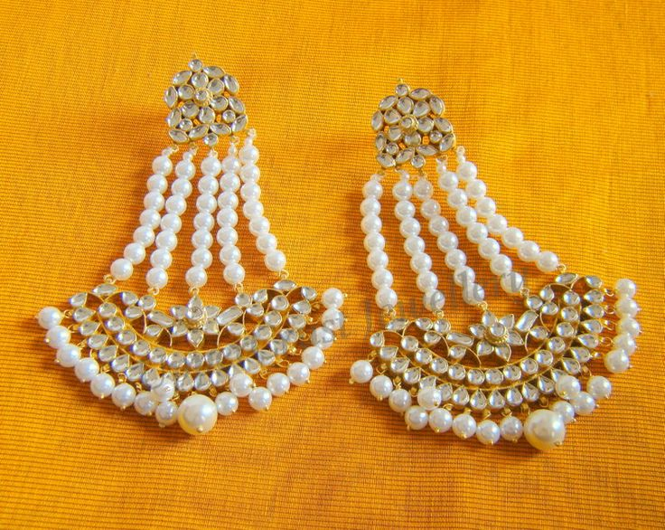Kundan jhoomer style earrings from Uppercrust Jewellery