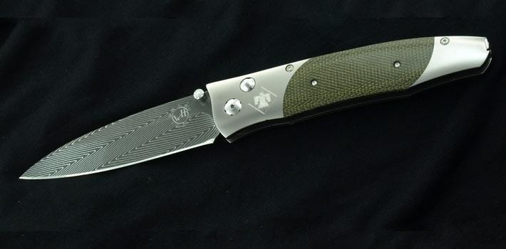 Our associate designed this knife and worked with William Henry to put it into production as a gift for her husband returning from his tour in Afghanistan with the US Army's 45th Infrantry Division. Great gift idea for returning soliders or veterans of the 45th Infantry. Only 10 were made! There is a small amount of room to engrave name, rank, etc on the knife. Available at Brockhaus Jewelry 405.321.4228 Norman, Oklahoma www.brockhausjewelry.com