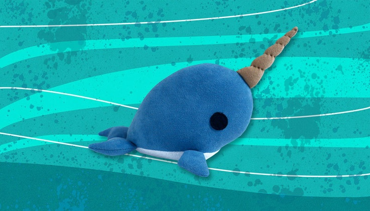 Narwhal Plush Stuffed Toy Softie Etsy Narwhal plush