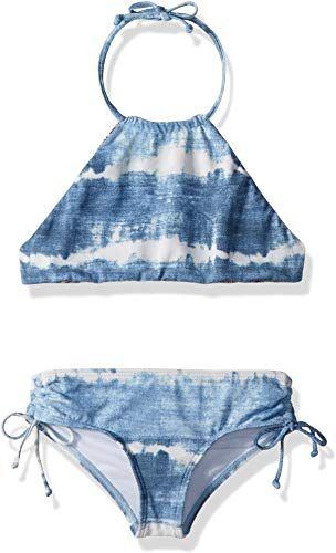New Billabong Girls' Lil Bliss High Neck Two Piece Swimsuit Set online shopping