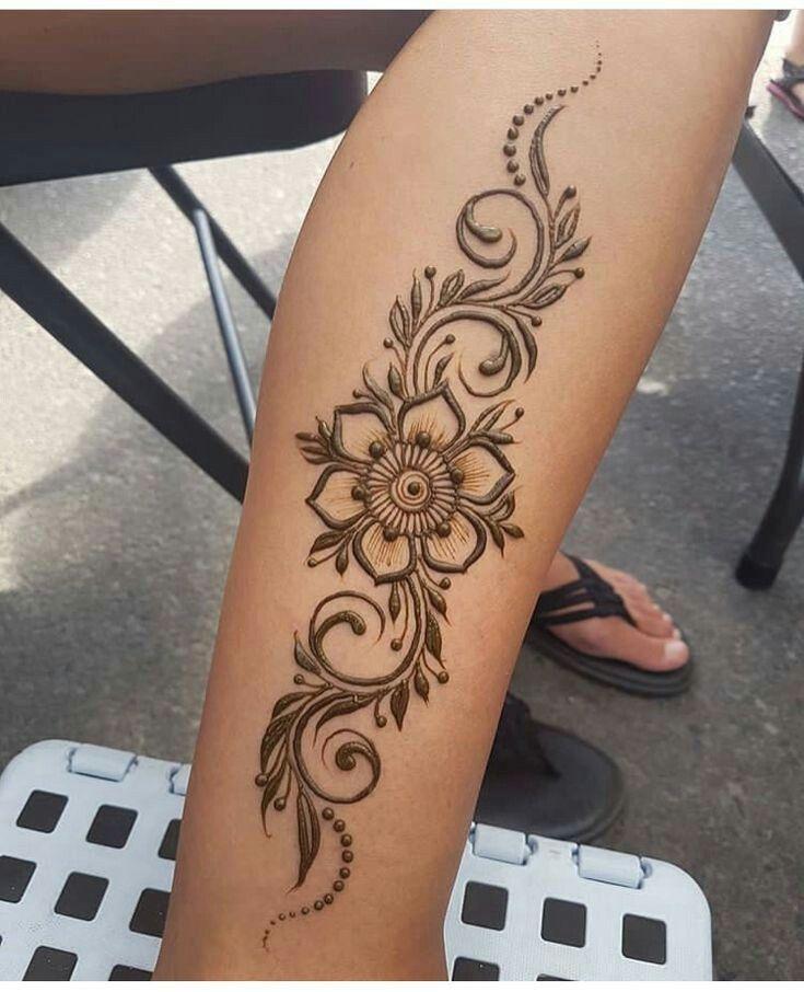 ярких дизайнов эскизы хной на ноге цветы фото инстаграме ольга выложила