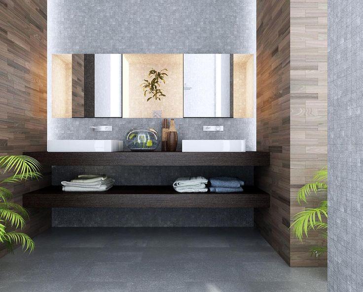 Elegant Modern bathroom renovation with new tiles