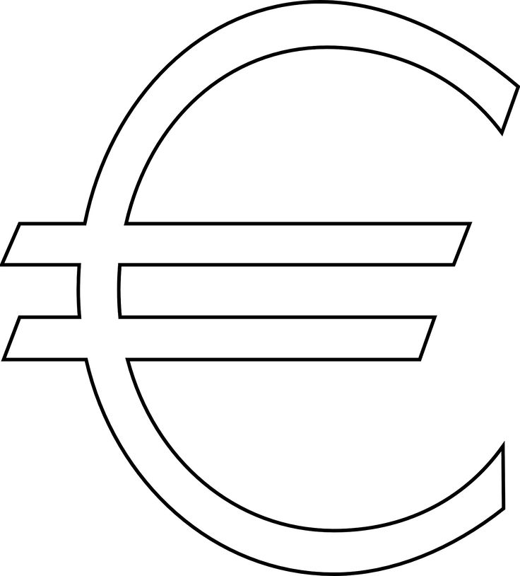 Euro Sign Euro Money Sign transparent image