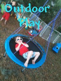 Cute Outdoor Play small trampoline swing just have to figure out how to hang it