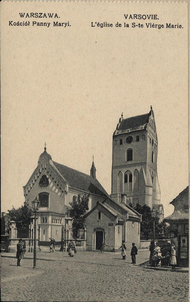 Warszawa przedwojenna - kościół Panny Maryi