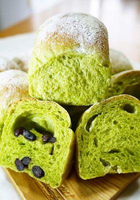 【菓子パン】ふんわり抹茶ミルクちぎりパン [Green Tea Milk Bread]