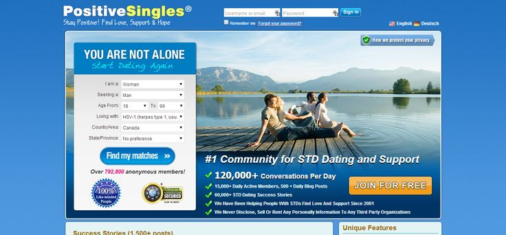 Dating Sites | Dating Review | STD positive and need a great dating site? Here's my top pick - but do check out this PositiveSingles review before signing up.