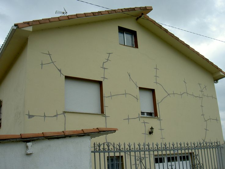 stitched together crack house on the Camino