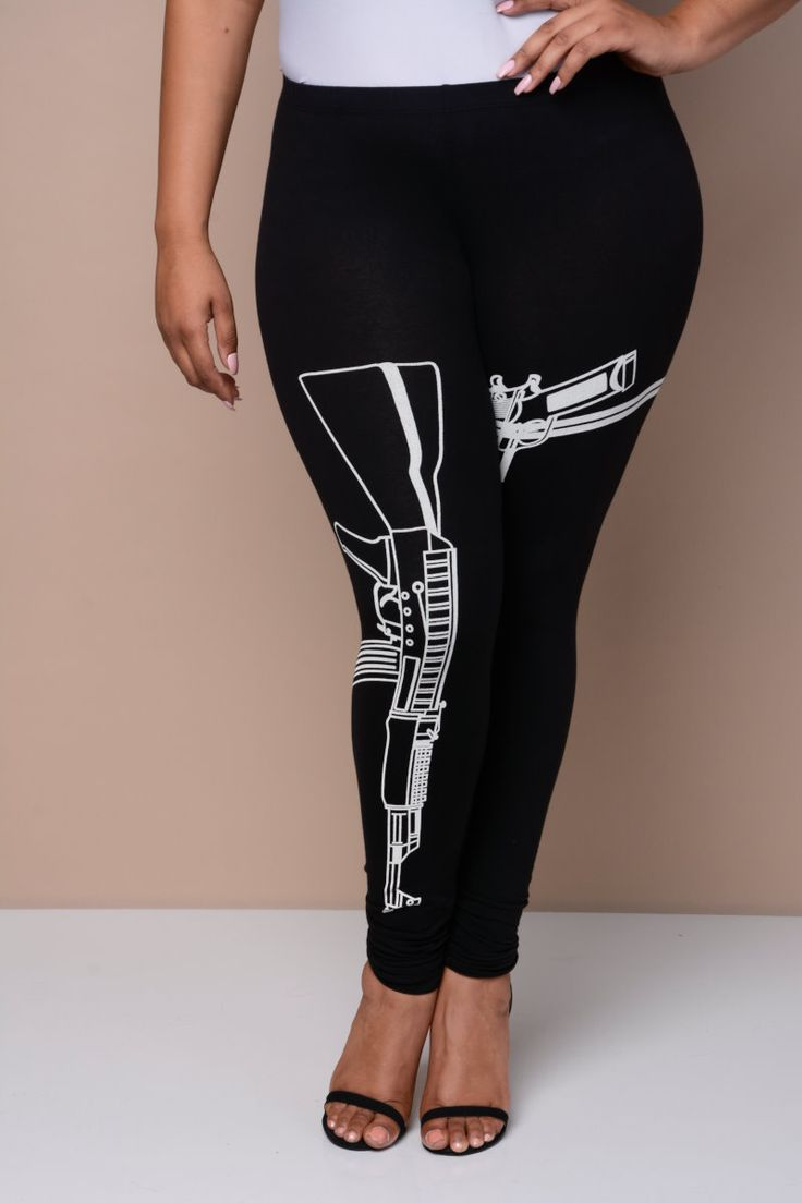 Strapped Leggings Junior Outfits Plus Size Outfits