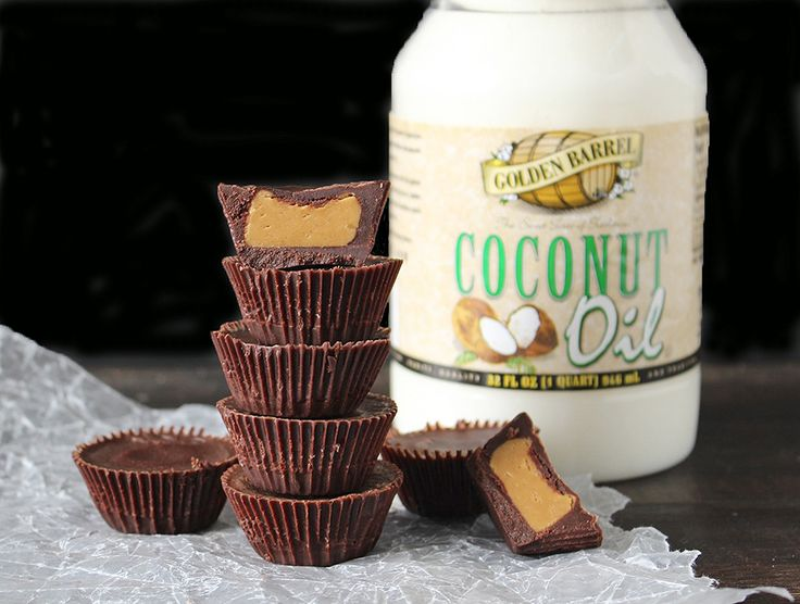 These Homemade Peanut Butter Cups with Golden Barrel Coconut Oil are easy, only have 5 ingredients, and a healthy version of the popular candy.