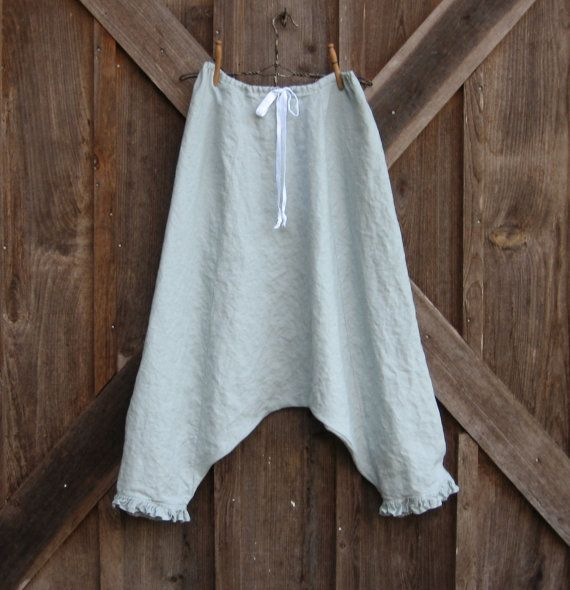 sareoul Thai fisherman linen skirt/pant or is it di linenclothing