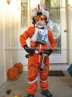 Homemade Luke Skywalker Pilot Costume