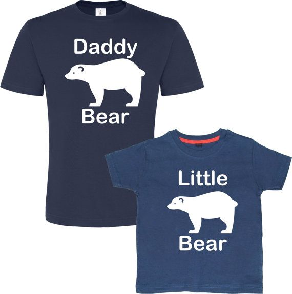 Gifts From Son To Dad Part - 37: Daddy Bear Little Bear/Baby Bear, Matching Father Son, Daddy Birthday Gift,
