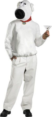 Deluxe Brian Costume – Family Guy Costumes « Mutant Faces