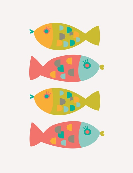 Four Fish Art Print