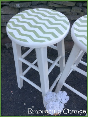 Chevron Stools Makeover (kitchen?)