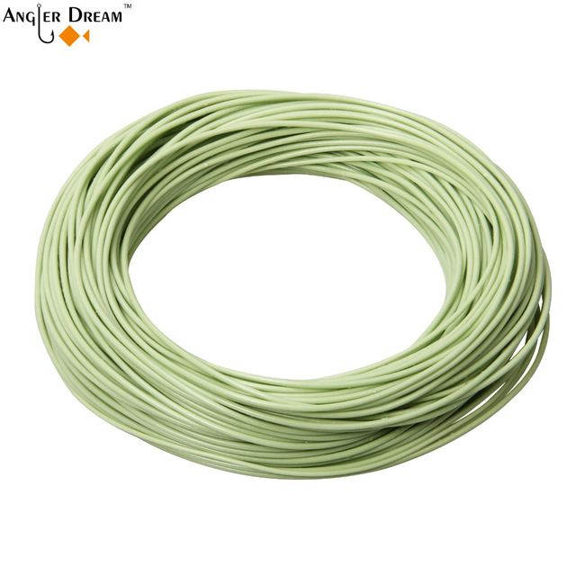 Top Weight Forward Floating Fly Line 7wt Trout Fly Fishing Moss Green