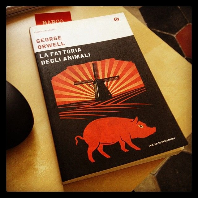 """""""La fattoria degli animali"""" - George Orwell #twittamiunlibro #bibliotecaideale #libri #leggere #lettura #cultura #books #reading #read"""