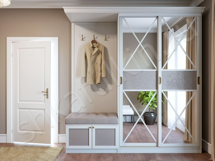 """Прихожая в классическом стиле не просто украсит Ваш интерьер, но и подчеркнет изысканный стиль своего хозяина. Шкаф-купе """"Версаль"""" сочетает в себе фасады, текстурированные под дерево, и вставки из кожи. Строгий классический дизайн в сочетании с изысканной простотой декоративной отделки создают гармоничный дуэт. Мебель может быть выполнена в любом цветовом решении."""