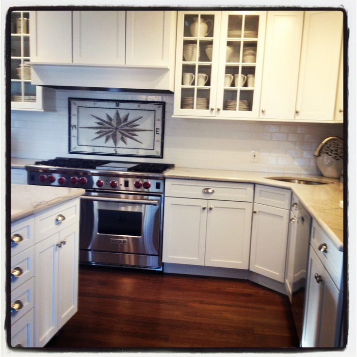 My Dream Kitchen Is Complete Quartzite Countertop Wolf Range Kraftmaid Cabinets Mosaic
