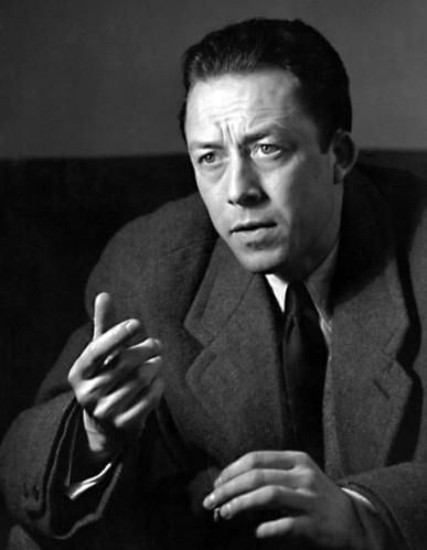 """Albert Camus (1913–1960), was a French Nobel Prize winning author, journalist, and philosopher. His views contributed to the rise of the philosophy known as absurdism. He wrote in his essay """"The Rebel"""" that his whole life was devoted to opposing the philosophy of nihilism while still delving deeply into individual freedom. Although often cited as a proponent of existentialism, the philosophy with which Camus was associated during his own lifetime, he rejected this particular label."""