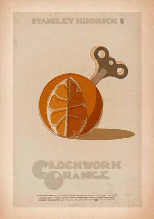 A Clockwork Orange, Stanley Kubrick. [by 3ftDeep] Never seen it- but love the artwork