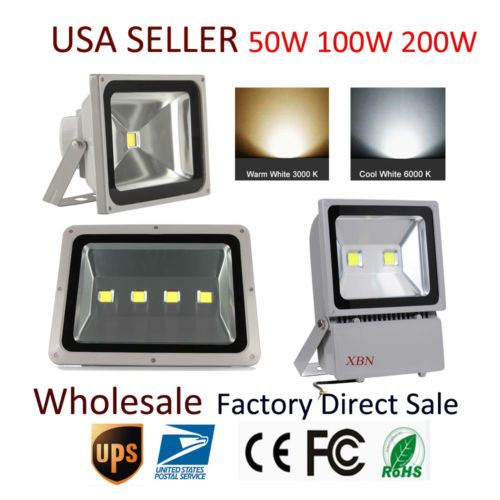 50W 100W 200W LED Flood Lights Outdoor IP65 Wide VoltageWarm Cool White  NEW A