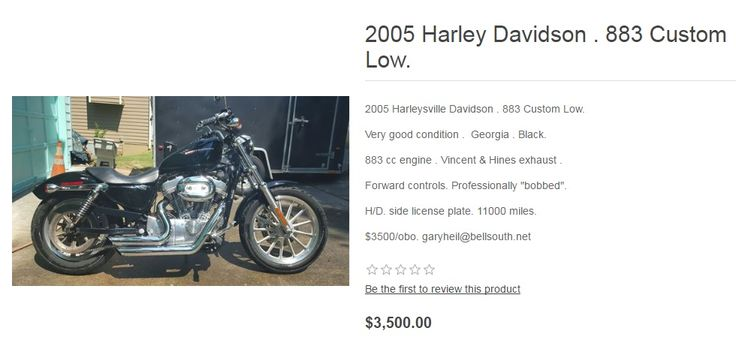Buy and sell new and used HARLEY-DAVIDSON motorcycles confidently at Choppers For Sale. Find fantastic HARLEY-DAVIDSON bike discounts at Choppers For Sale today. Search for your ideal Harley-Davidson motorcycle for sale and locate new and used motorcycle dealers in your area. Our Harley Davidson Motorcycle classifieds provide easy-to search listings of used Harley Davidson Motorcycles. Find used Harley for sale in your area, or search for Harley-Davidson dealers.