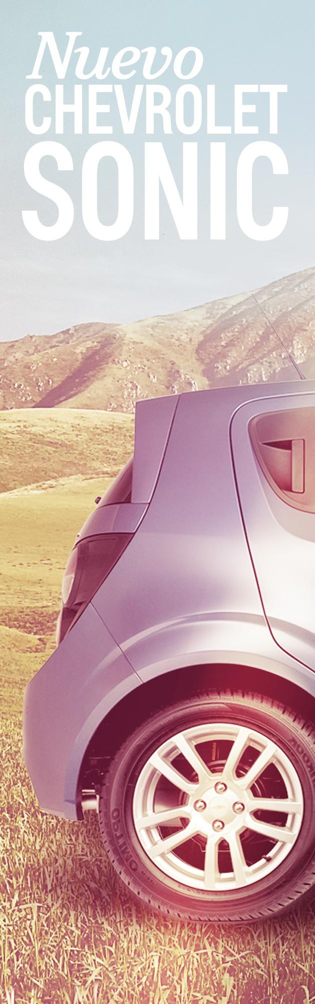 Foto 1. Completa la imagen y descubre más formas de vivir la aventura. #ChevroletSonicLlego