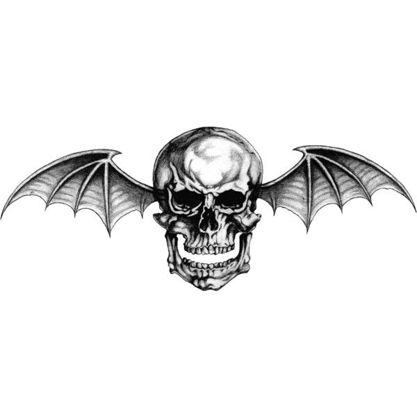 "Avenged Sevenfold Logo ""Deathbat"" Tattoo By Lightsinaugust... ❤ liked on Polyvore featuring accessories and body art"