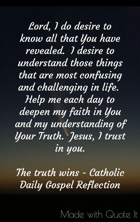 The truth wins - Catholic Daily Gospel Reflection