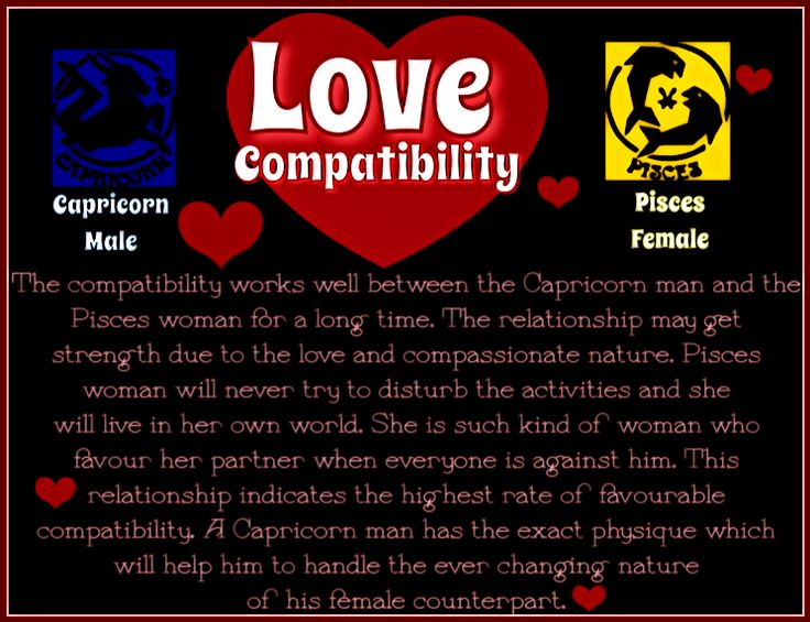 Pisces Woman and Capricorn Man Love Compatibility