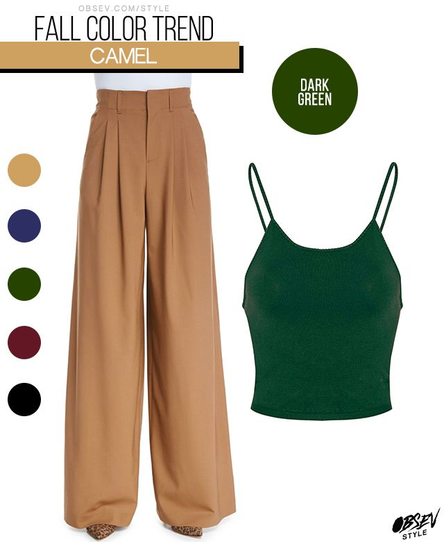 How To Wear Camel In The Fall | Wear with a deep dark green