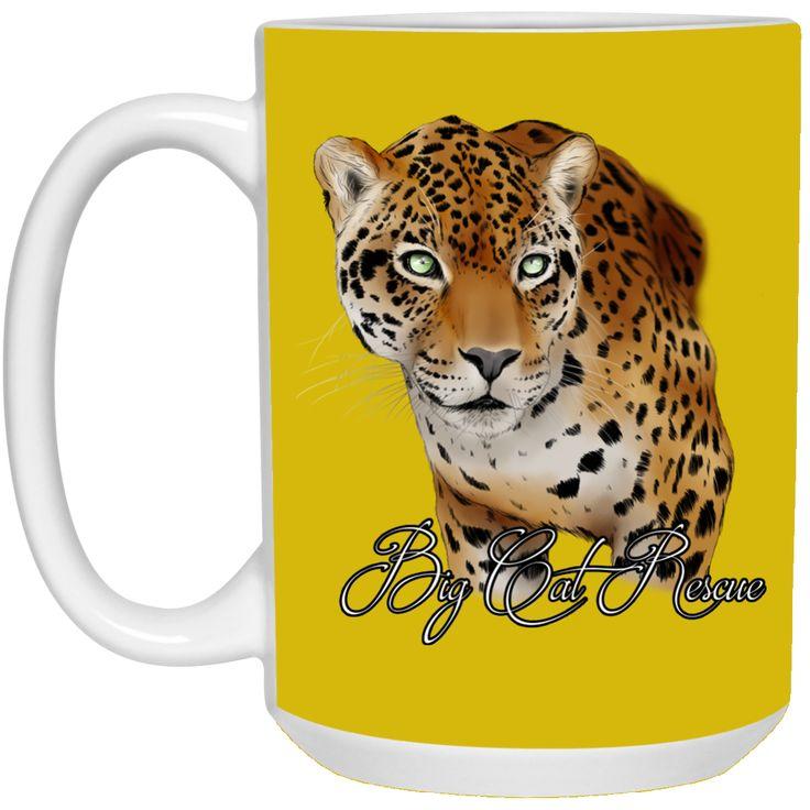 Manny Jaguar Color 21504 15 oz. White Mug