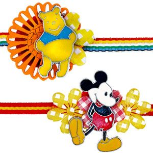 Surprise your brother and send all your wishes with their most favorite & popular Disney cartoon characters - Mickey Mouse & Winnie the Pooh. Rs 299/- http://www.tajonline.com/rakhi-gifts/product/rdr87/mickey-mouse-winnie-the-pooh-rakhi/?aff=pint2014/