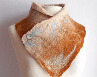 Bufanda de fieltro de lana lana de fieltro bufanda de por woolNsilk