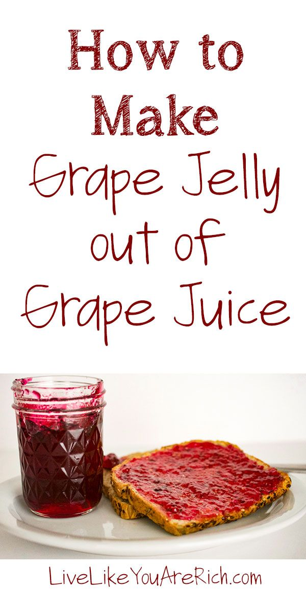 My mom grows concord grapes in her backyard. Growing up we would juice them together each year. She would then make a few dozen batches of delicious grape jelly from her homemade grape juice (post here). This is my favorite jelly! It is so flavorful, sweet, and delicious! It is easy and quick to make especially considering the fact that the extras will store for up to a year. I'd highly recommend trying this fantastic recipe. #LiveLikeYouAreRich