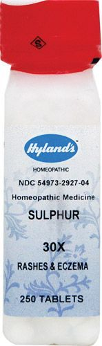 Hyland's Sulphur 30X [IF this is the same stuff I used in the past, it helps eczema a lot!]